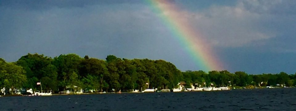 What a beautiful sight over Devils Lake
