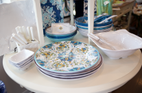 Yep, it's melamine! Amazing!