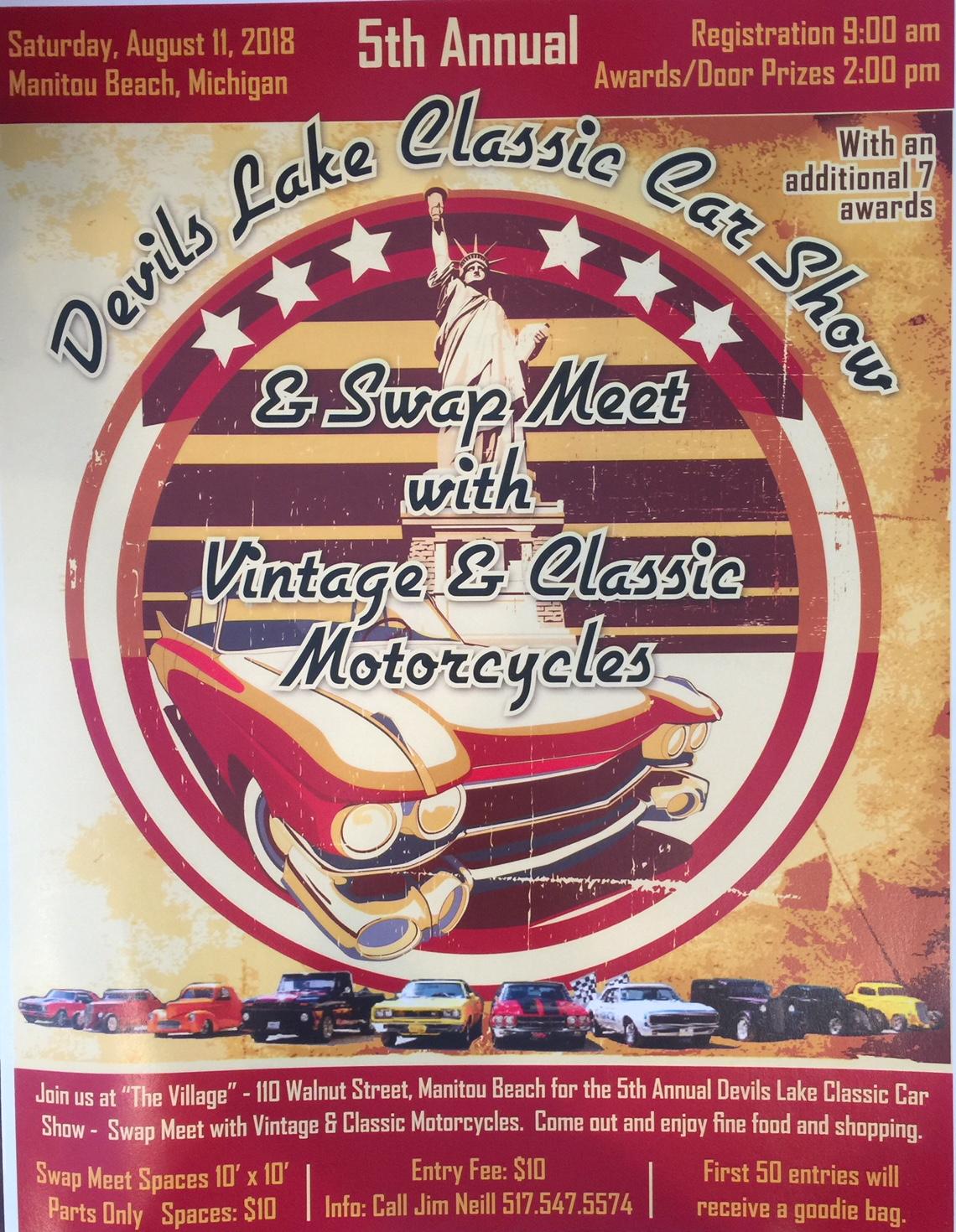 2018 Classic Car Show Flyer