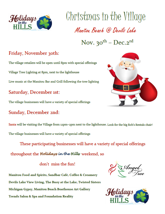 Christmas in the Village Flyer